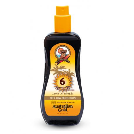 Apsauginis aliejus nuo saulės SPF6 Australian Gold SPF6 Spray Oil Sunscreen Carrot Oil Formula 237ml