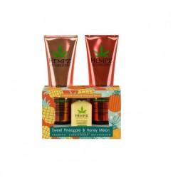 Plaukų priežūros rinkinys su ananasų ekstraktu HEMPZ Sweet Pineapple & Honey Melon set