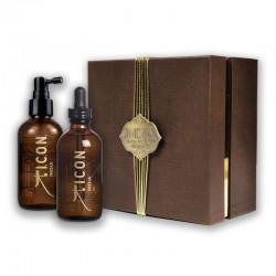 Riboto leidimo plaukų priežiūros rinkinys  I.C.O.N. INDIA DUO BOX