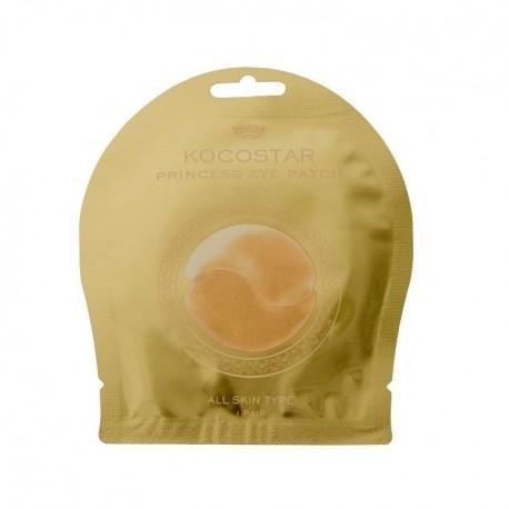 Šviesinanti bei drėkinanti hidrogelio kaukė paakiams Kocostar Princess Gold 1vnt