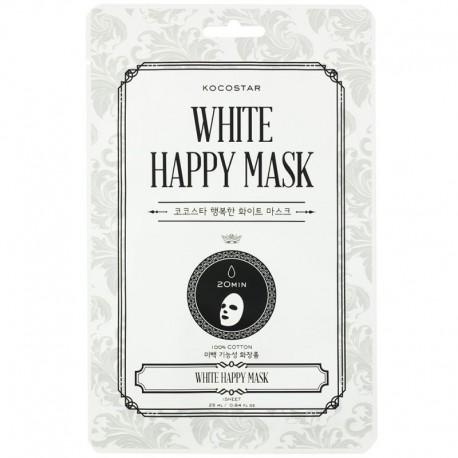 Skaistinamoji lakštinė veido kaukė Kocostar White Happy Mask 1vnt