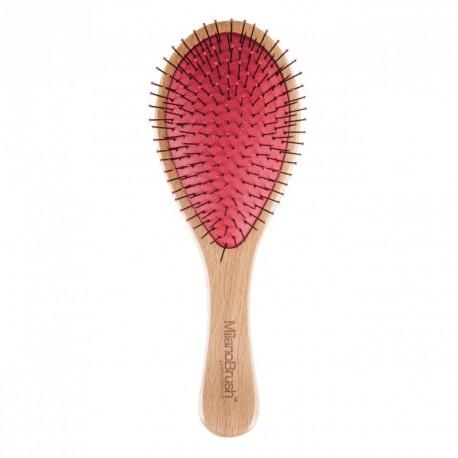 Medinis plaukų šepetys Milano Brush Professional Dory wooden