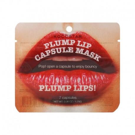 Putlinamoji lūpų priemonė su itin veiksmingu maitinamuoju serumu KOCOSTAR Plump Lip Capsule Mask 7vnt