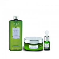 KEUNE So Pure Recover rinkinys pažeistiems plaukams šampūnas 1000ml + kaukė 200ml + aliejų derinys 10ml
