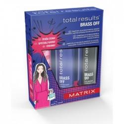 Plaukų priežiūros rinkinys neutralizuojantis gelsvą šviesių plaukų atspalvį MATRIX Total Results Brass Off
