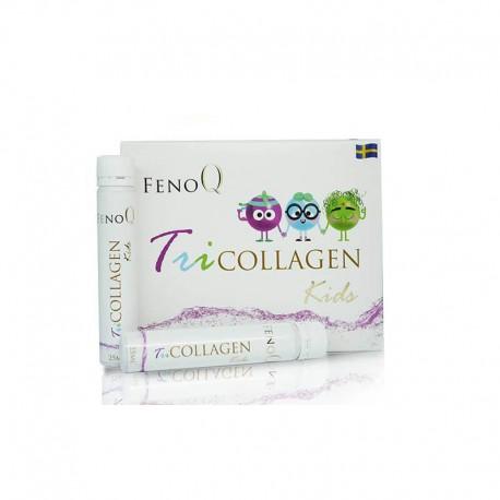 Geriamas derinys organizmo vystymuisi ir protinei veiklai FENOQ Tricollagen Kids 14vnt po 25ml