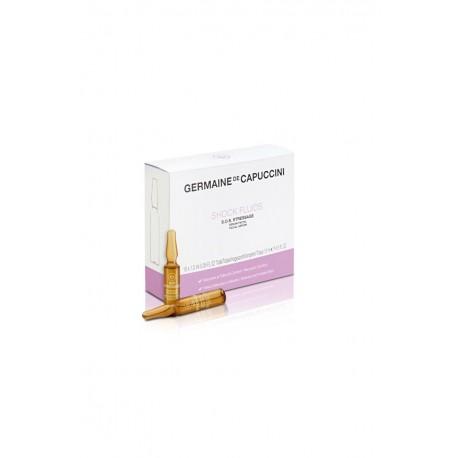 Veido ampulės Germaine de Capuccini OPTIONS SHOCK FLUID S.O.S. Stressage serum 1.2ml